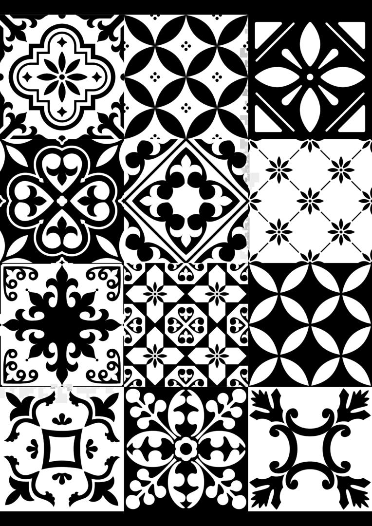 carreaux de ciment noir - dîner d'artistes - boutique en ligne